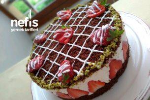 Muhteşem Çilekli Pasta (Hazır Sanılan Pastam) Tarifi