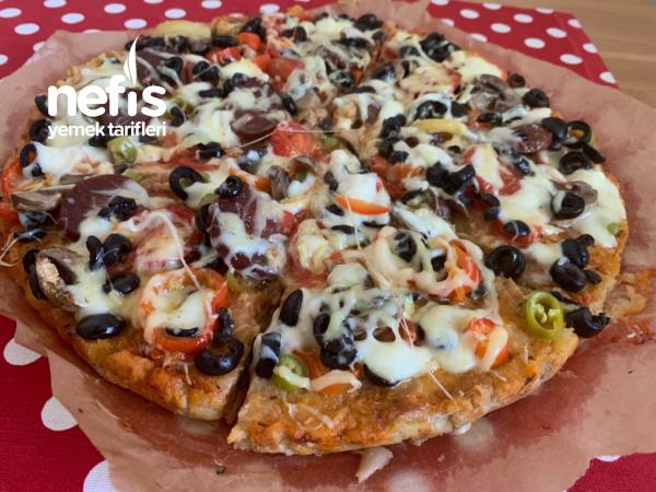 Hamuru Bayat Ekmekten Pizza