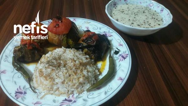 Kabak , Patlıcan Ve Biberli Kürdan Kebabı