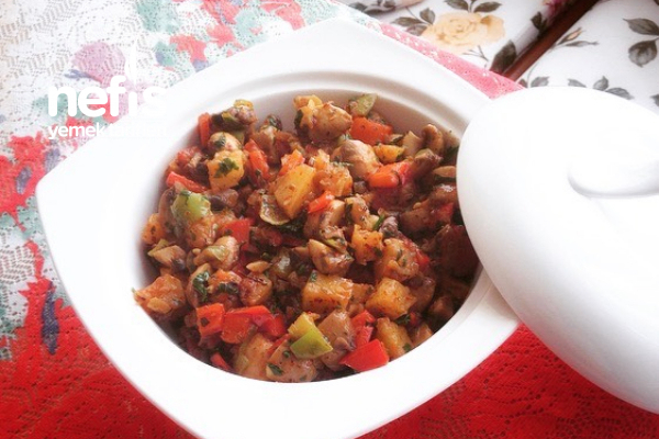Nefis Patatesli Mantar Salatası Tarifi