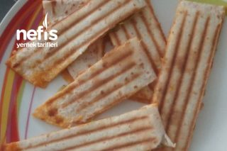 Tost Makinesinde Çok Kolay Kahvaltılık Pizza Gözleme Tarifi