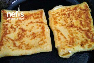 İçi Kaşar Peynirli Krep (Bohça Krep) Tarifi