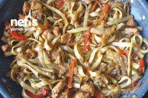 Tavuklu Sebzeli Çin Makarna (noodle) Tarifi