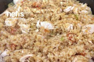 Tavuklu Sebzeli Bulgur Pilavı (Enfes Lezzet) Tarifi