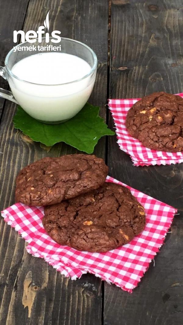 Triple Chocolate Cookies/ Amerikan Kurabiyesi