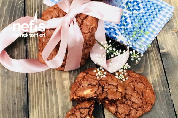 Triple Chocolate Cookies Amerikan Kurabiyesi Tarifi