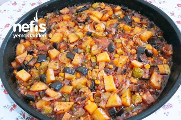 Bol Sebzeli Fırın Yemeği Tarifi