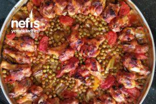 Fırında Sebzeli Kanat Tarifi