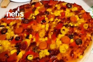 İncecik Ev Yapımı Pizza (Hazırlara Son) 2 Adet Tarifi