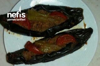 Közlenmiş Patlıcanlı Karnıyarık Tarifi