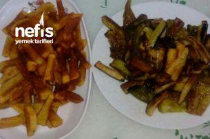 Patlıcan Biber Ve Patates Kızartması Tarifi