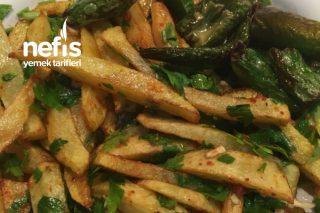 Yeşillikli Patates Kızartması Tarifi