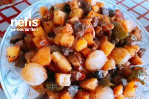 Lokum Gibi Etli Arpacık Soğanlı Patates Yemeğim Fırın Torbasında Tarifi