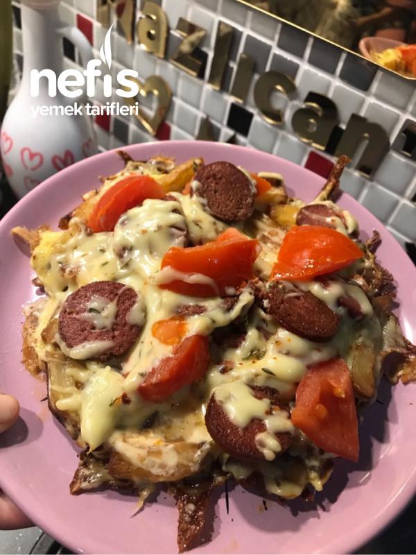 Yumurtalı Patates Pizzası (kahvaltılık)