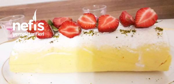 Çilekli Rulo Pasta
