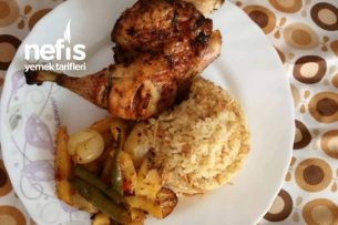 Fırında Bütün Tavuk Ve Patates Tarifi