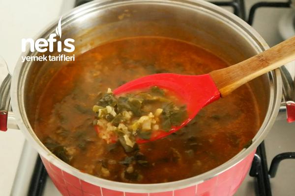 Pirinçli Ispanak Çorbası