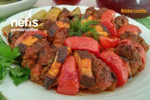 Yedikçe Yediren Köfteli Patlıcan Dizme Tarifi