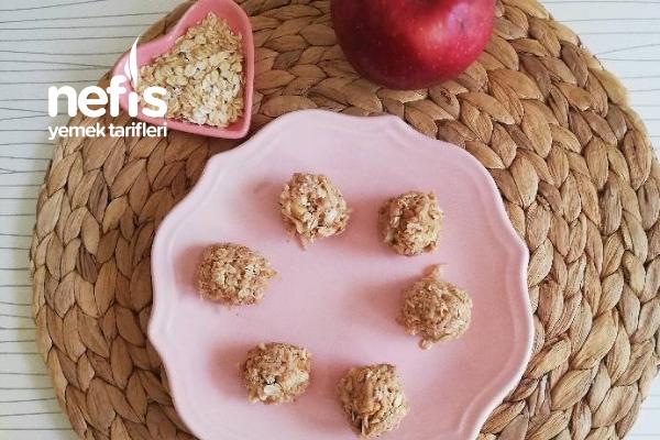 Yulaflı Elmalı Atıştırmalık Toplar (Bebekler İçin)  9 Tarifi