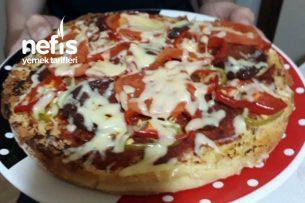 Sahura Bazlamadan Pizza Tarifi