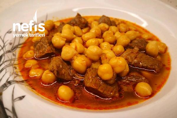 Etli Nohut Yemeği- Düdüklü Tencerede Nohut Pişirme Tarifi