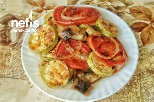 Fırında Patlıcan Ve Kabak Yemeği Tarifi