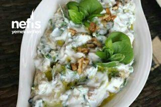 Köz Patlıcanlı Semiz Otu Salatası Tarifi