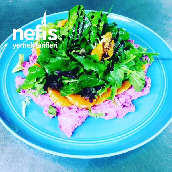 Pancarlı Keçe Peynirli Salata
