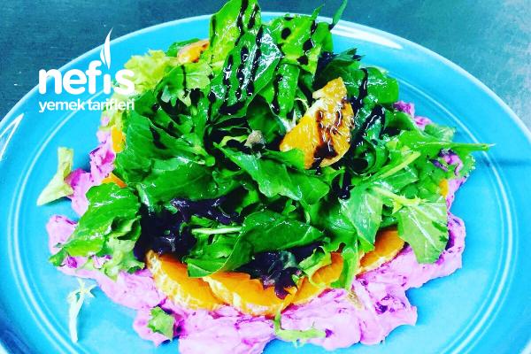 Pancarlı Keçe Peynirli Salata Tarifi