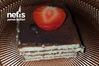 Sakızlı Muhallebili Bisküvi Pastası Tarifi