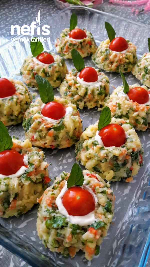 Şekli Şahane Ezme Patates Salatası