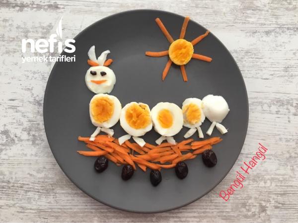 Çocuklara Kahvaltı Tabağı (neşeli Tabak)