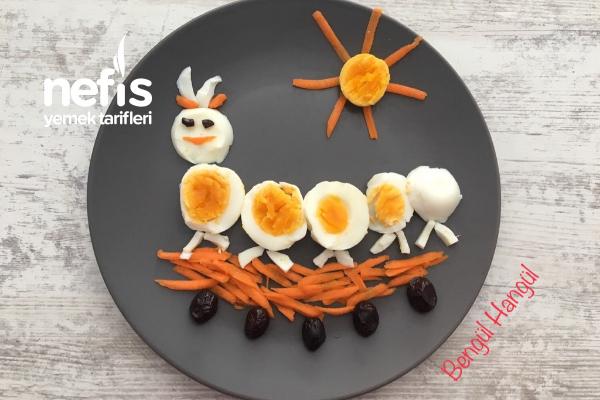 Çocuklara Kahvaltı Tabağı (Neşeli Tabak) Tarifi