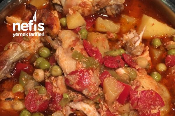 Fırında Sebzeli Tavuk (Kanat-Bonfile) Tarifi