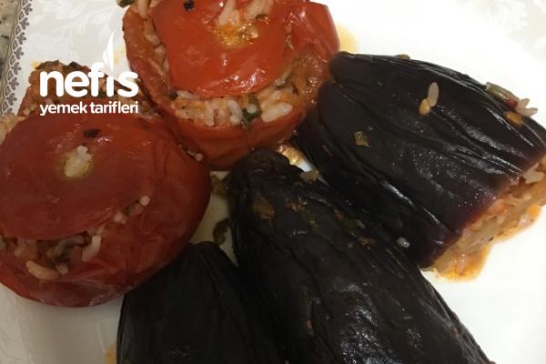 Tavuklu Patlıcan Domates Dolması Tarifi