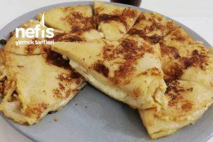 Lavaş Ekmeğinden Peynirli Tava Böreği Tarifi