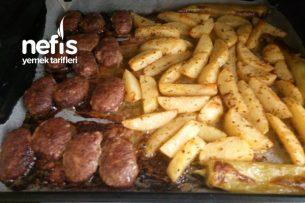 Fırında Kuru Köfte Patates Tarifi