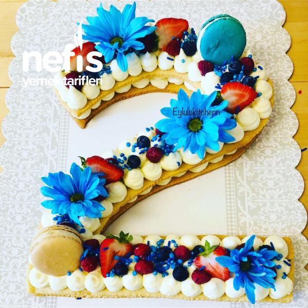 Teremyağlı Çok Lezzetli Harf Pasta (letter Cake)