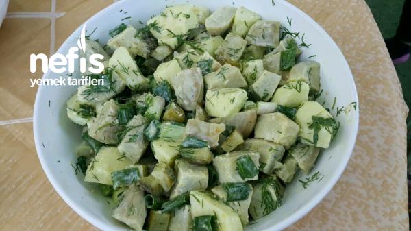 Enginar Salatası(Yeşil Elmalı)