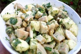 Enginar Salatası (Yeşil Elmalı) Tarifi