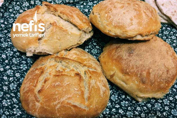Mis Gibi Evde Fırın Ekmeği (Ekşiyen Yoğurt Ve Sütünüzü Kullanabilirsiniz) Tarifi