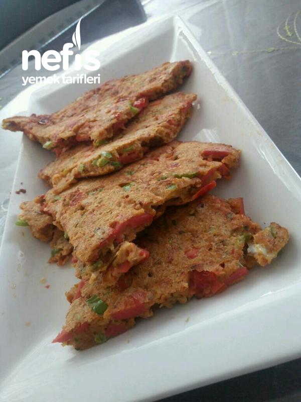 Pizza Tadında Sebzeli Omlet