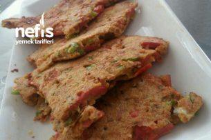 Pizza Tadında Sebzeli Omlet Tarifi
