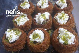 Şerbetli-Dolgulu Kadayıf Çanakları Tarifi