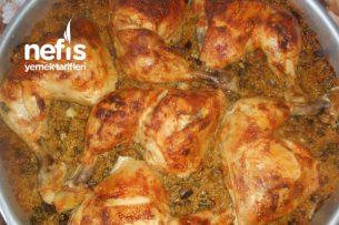 Tavuk Kalça Butlu Patlıcanlı Bulgur Pilavı Tarifi