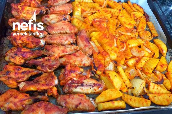 Enfes Sosuyla Fırında Tavuk Patates Tarifi