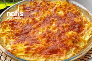 Fırında Börek Tadında Kremalı Makarna Tarifi