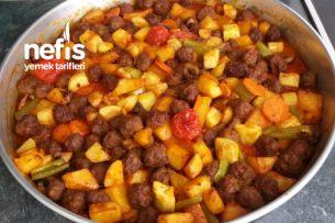 Fırında Sağlıklı Köfteli Sebze Yemeği Tarifi