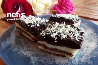 Tadına Doyum Olmayan İrmikli Bisküvili Hafif Pasta Tarifi