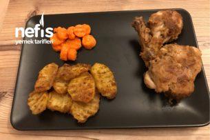 Cajun Baharatlı Çıtır Tavuk Ve Patates Tarifi